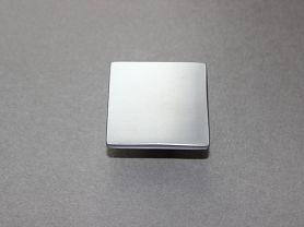 BOUTON CARRE Chrome mat 50