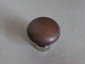 Bouton de placard PORCELAINE Chocolat