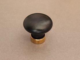 Bouton de Placard PORCELAINE Noir mat