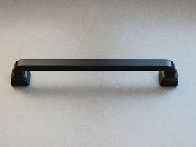 POIGNEE ART DECO PIED CARRE Noir Mat 160