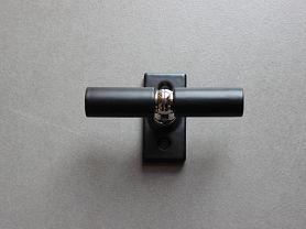 CREMONE CONTEMPORAINE Noire Mat Nickel Brillant