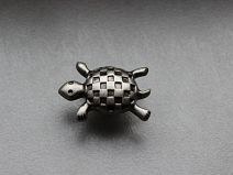 Bouton TORTUE Argent