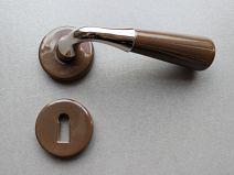 Poignée de porte Porcelaine CONE - Taupe/NB + CLE L